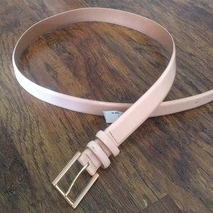 Leather blush Calvin Klein belt